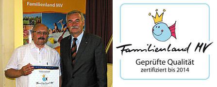 Auszeichnung mit dem Qualitätssiegel Familienland MV